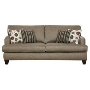 Nebraska Furniture Mart U2013 Corinthian Contemporary Sofa With Thin Track Arms  And Exposed Wood Legs In Urban Loft Style