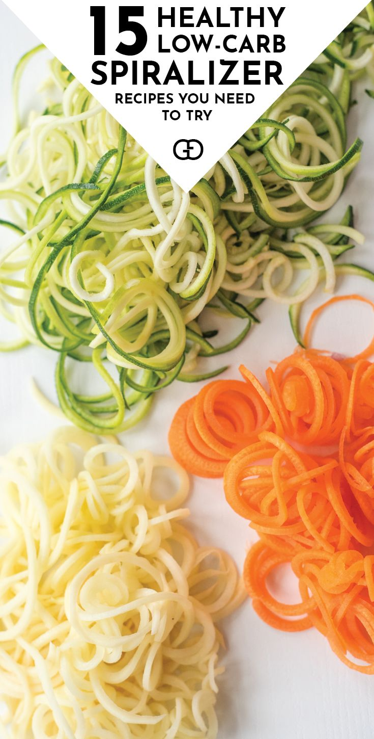 Genius! The best 15 quick and easy low-carb spiralizer recipes you need to try. Plus all the tricks and tips you need to know to spiralize zucchini and any other vegetables, including how to store them to keep them fresh for longer! Healthy eating has never been easier!