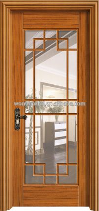 Nice Wood Glass Kitchen Door Design From China Wholesale Market