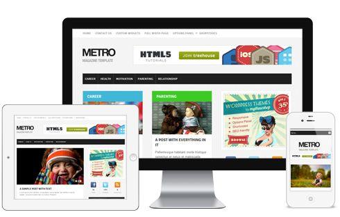 Metro A Ultra Modern Responsive Magazine Blog WordPress Theme