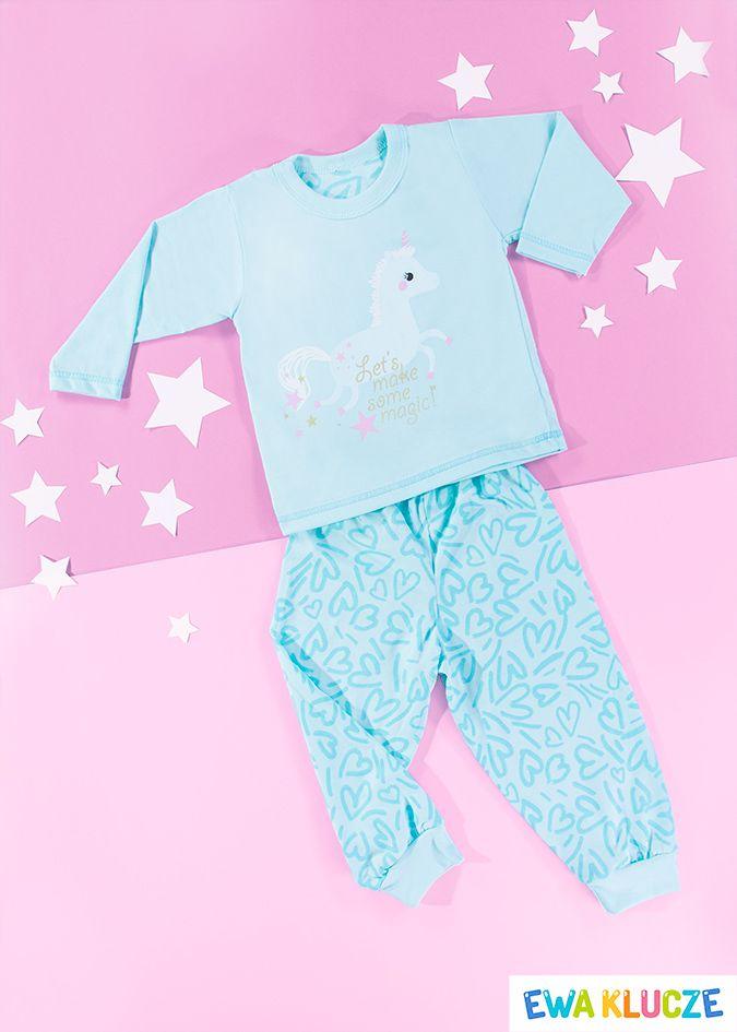 EWA KLUCZE, turkusowa piżamka z długim rękawem COMICS, ubranka dla dzieci, EWA KLUCZE, COMICS pijamas, baby clothes, Детская одежда