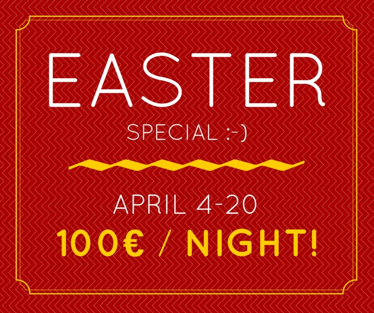 Easter Holidays 2015 special at Hara's houses!