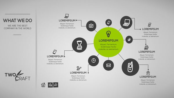 TwoCraft PowerPoint by Valentina Costantin, via Behance