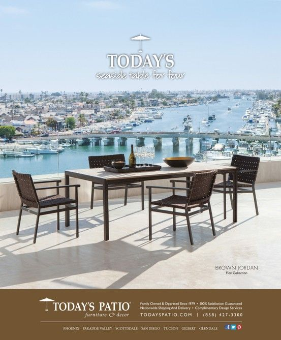 Brown Jordan Flex Collection   Todayu0027s Patio Magazine Ad