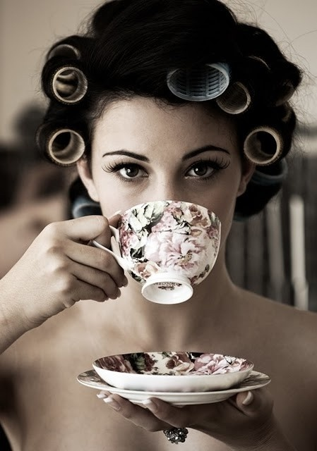 this is what i looked like before a chior concert....minus the tea cup :)