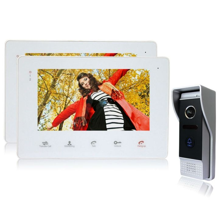 188.57$  Watch now - http://alissa.worldwells.pw/go.php?t=32495226701 - Homefong Door Phone 7 Inch TFT LCD Color Monitor Support SD Card  Take Picture Video Record DoorPhone Intercom Waterproof Camera 188.57$