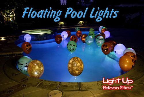 floating pool lights...great idea for night pool parties...