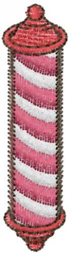 Free Barber Pole Embroidery Design | AnnTheGran