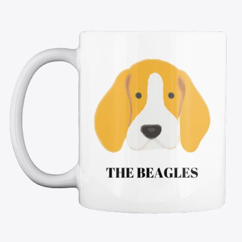 Cute Beagle Coffee Mug For Dog Lovers White T Shirt Front Whether