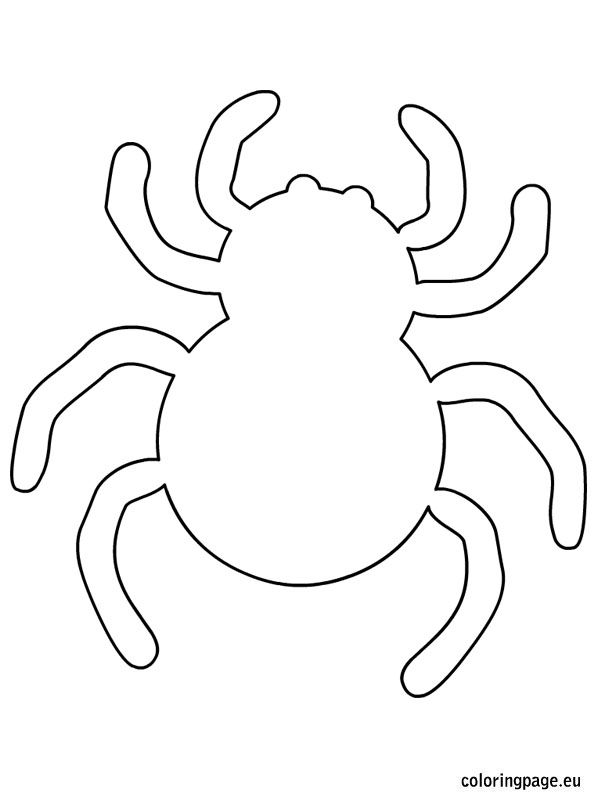 Spider halloween template