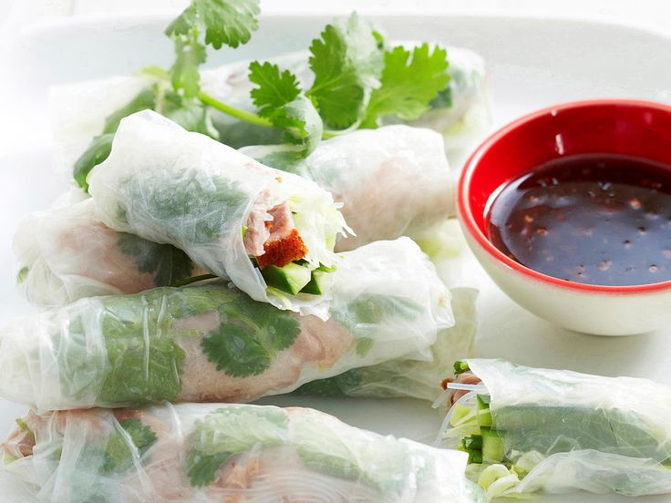 Roast duck rice paper rolls, duck recipe, brought to you by Woman's Day