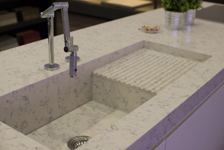 Fabulous Integrated Sink From Silestone And Kohler Karbon