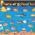 Use this activity for taking attendance during your ocean unit.  This is for a Smart Board.  The children will touch the fish with their name on it...: Classroom Ideas Management, Attendance Smartboard, Classroom Theme, School, Ocean Smartboard, Smart Board, Classroom Doors Bulletin, Smartboard Attendance, Doors Bulletin Boards