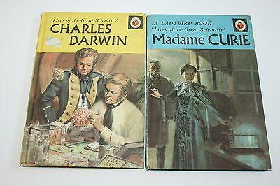 Vintage LADYBIRD SERIES 708 FULL SET Great Scientist MADAME CURIE CHARLES DARWIN