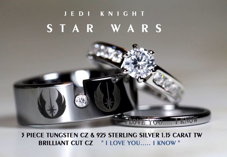 So I keep seeing the Doctor Who version of these rings, but here's the Star Wars version!