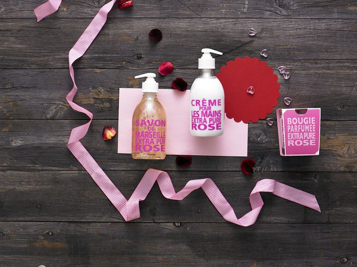 Love Sweet Love $110.00  Compagnie de Provence wild rose scented candle 140gm (made in France), Compagnie de Provence liquid Marseille soap and hand cream in wild rose 300ml (made in France)