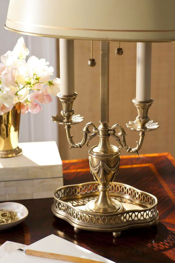 Beautiful Hand Crafted Details Of The Solid Brass Table Lamp With Classic  Greek Urn Design