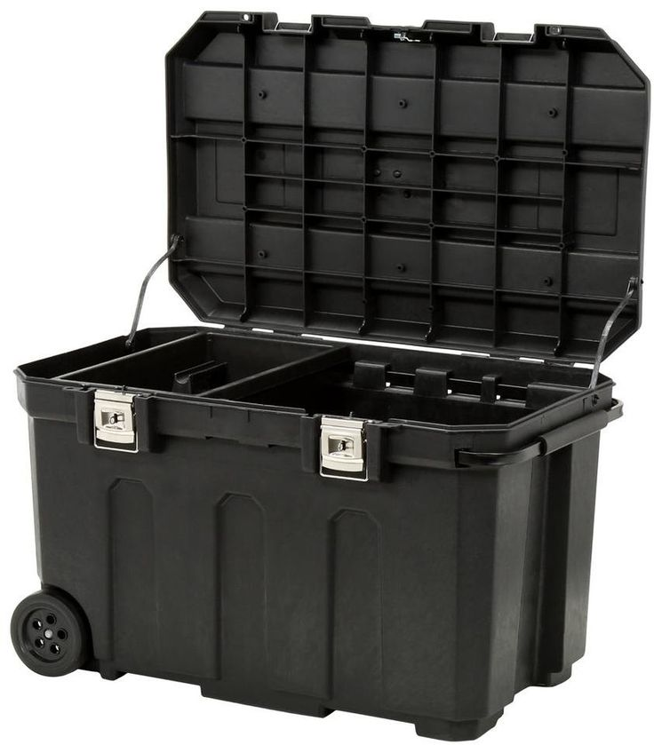 Stanley 50 Gal Mobile Wheeled Rolling Lockable Tool