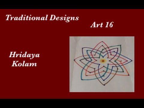 Dots Rangoli Art 16 - Muggu - Friday Kolam - Hridaya Kolam - muggu designs