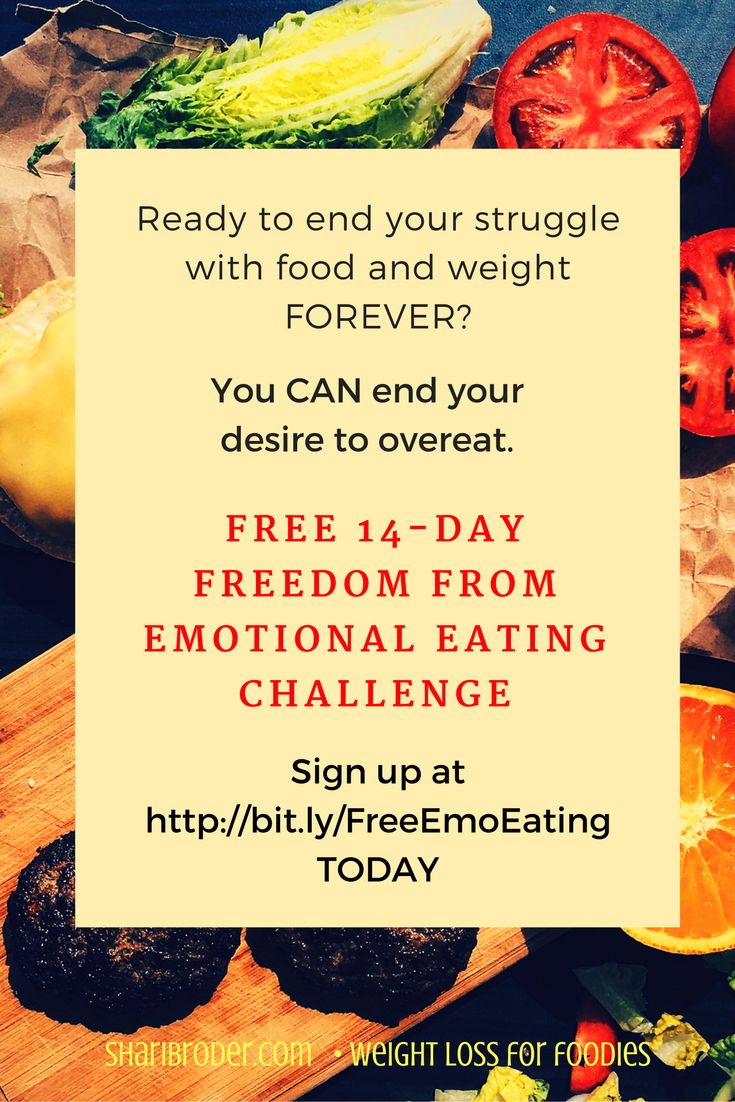 You can learn how to stop emotional eating, lose weight and keep it off! It's free!