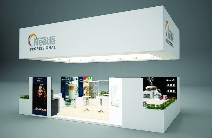 """Exhibition Stand for """"Nestle"""" designed by GM design group #exhibitionstands #exhibition #stand #booth #gmdesigngroup #gmdesign #gm #design"""
