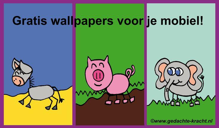 Gratis wallpapers van Gedachte-Kracht-Dieren voor je mobiel te downloaden via www.gedachte-kracht.nl
