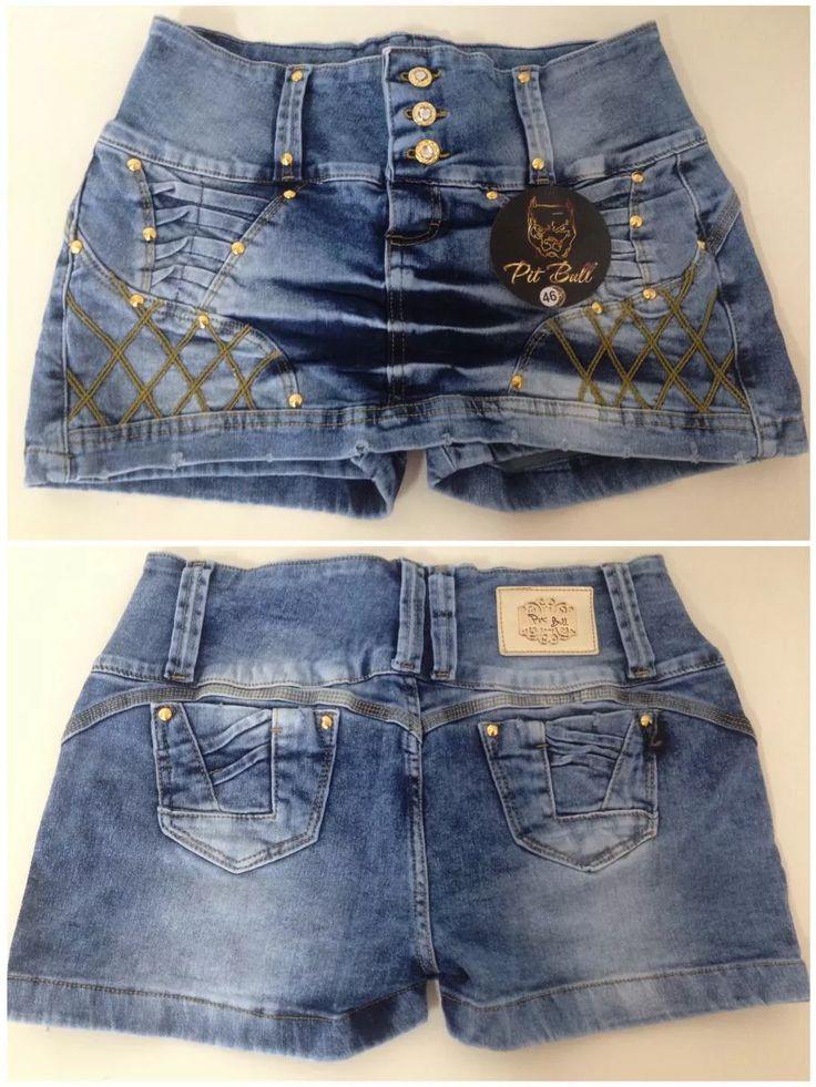 shorte-saia jeans pit bull - modelagem levanta bumbum