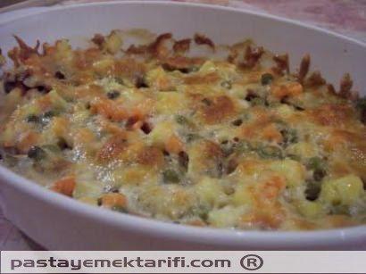 Fırında Sebzeli Mantar resimli yemek tarifi, Vejetaryen Yemekleri resimli tarifleri