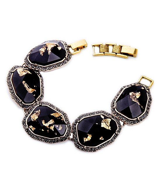 Crystal & Brass Power Bracelet