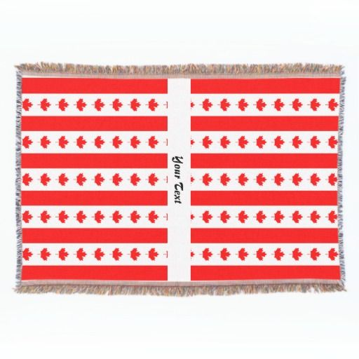 Canadian flag pattern throw