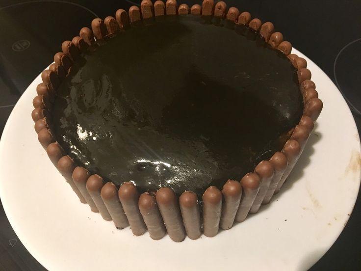 Chocolate salmiac (salty liquorice) cake