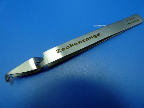 Professionelle-Zeckenzange-Zeckenpinzette-Edelstahl-rostfrei-fuer-Hund-Katze-NEU