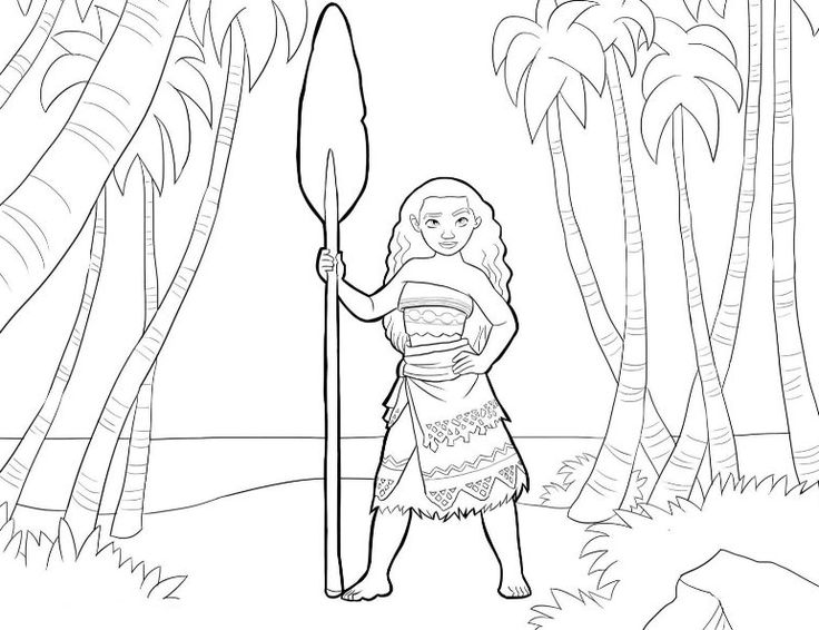 Disney Moana Coloring Pages Sheet Free Printable