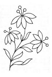 Free Embroidery Pattern: A Simple Floral design