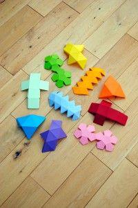 moldes de figuras geométricas.
