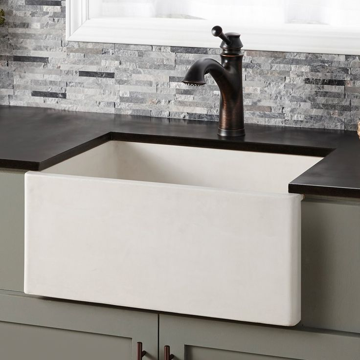 The Farmhouse 2418 Kitchen Sink's rich texture and commanding presence will heighten the appeal of any modern kitchen. http://www.ybath.com/native-trails-farmhouse-2418-kitchen-sink.html