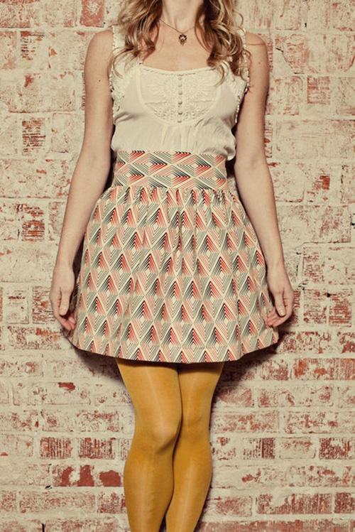 geometric print skirt