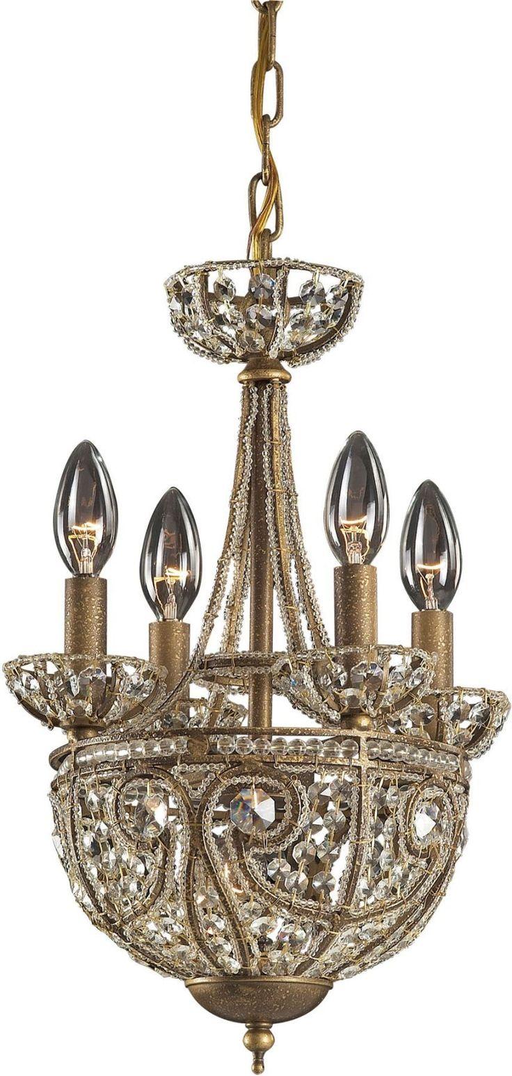 Elizabethan 5 Light Chandelier In Dark Bronze