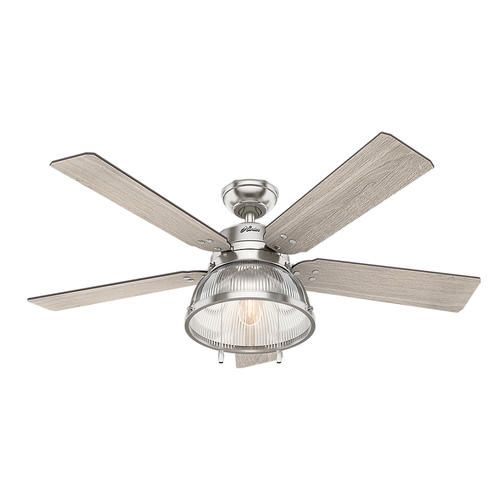 "Hunter Morelli 52 Led Brushed Nickel Ceiling Fan At Menards: $168. Hunter® Walford 52"" Brushed Nickel LED Ceiling Fan"