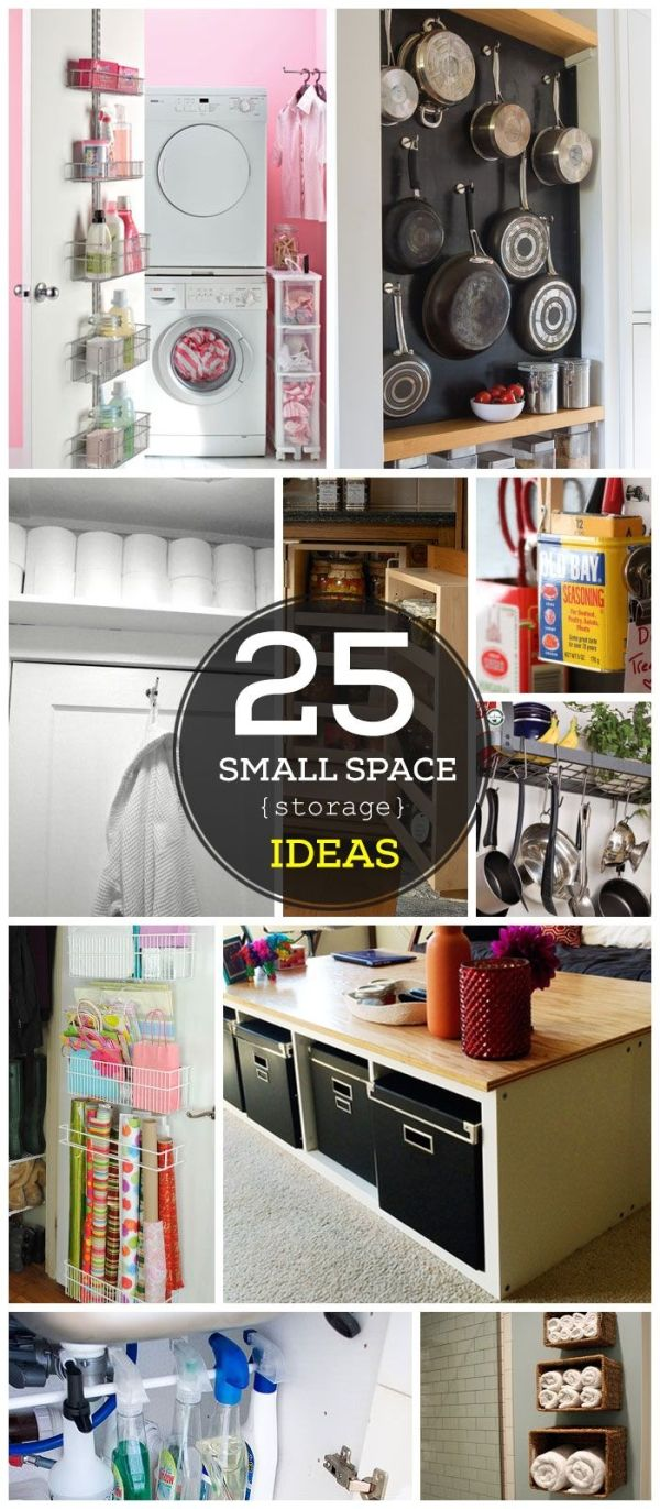 25 Easy Storage Ideas for Small Spaces by pameinfinita