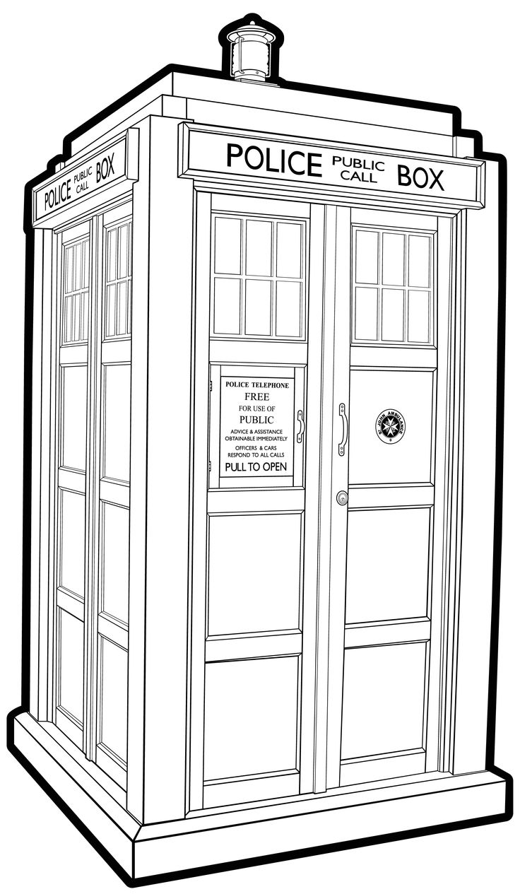 tardis coloring pages - photo#19