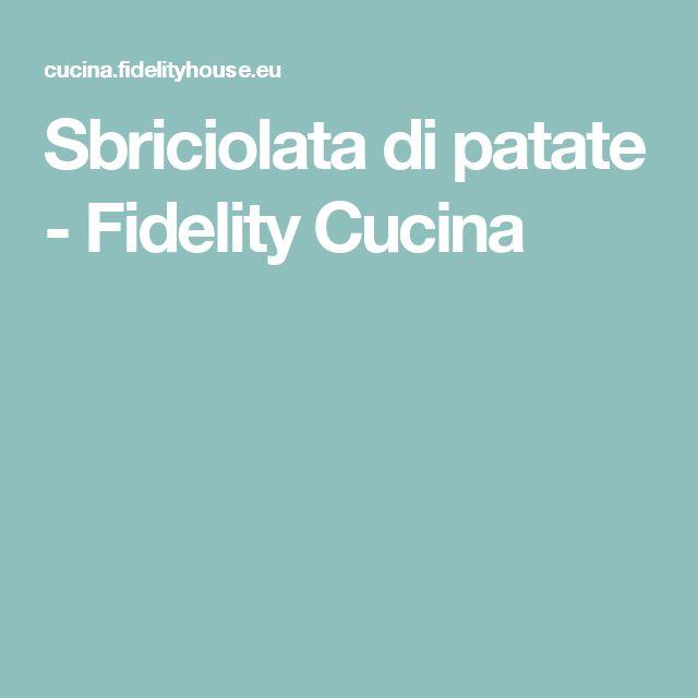 Sbriciolata di patate - Fidelity Cucina