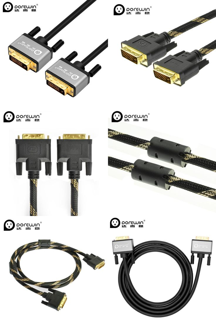 [Visit to Buy] Dorewin DVI Cable DVI to DVI Cable DVI-D Male to Male 24+1 Pin 1080P HD Gold Plated Plug for Computer Monitor Laptop Projector #Advertisement
