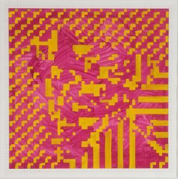 Simon Ingram, Abstract Picture (5, 6, 7), 2007, gouache on paper