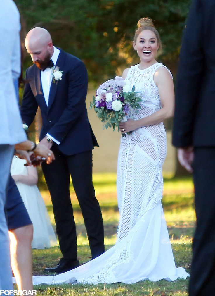 Actress Erika Christensen married Cole Maness in Palm Springs, CA.
