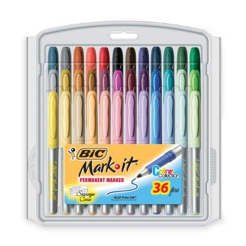 Bic Mark It Permanent Markers Fine Point 2 Packs Of 24 You Get Two Packs Of  24 Delivered Right To Your Door! While Supplies Last!