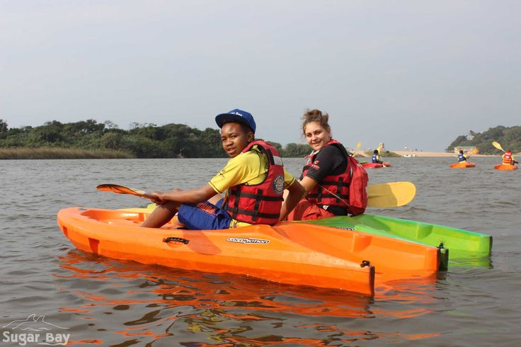 Kayaking with Sugar Bay counselor, Memphis is loads of fun!