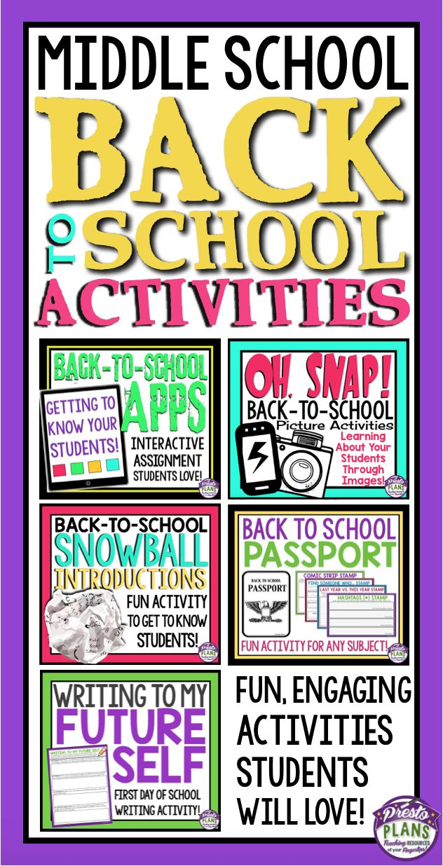 The first days of back to school can be hectic! Make your first week back easy with these engaging resources to help you get through those first days of middle school with your students! The bundle includes fun assignments, activities, and eye-catching posters for bulletin display.