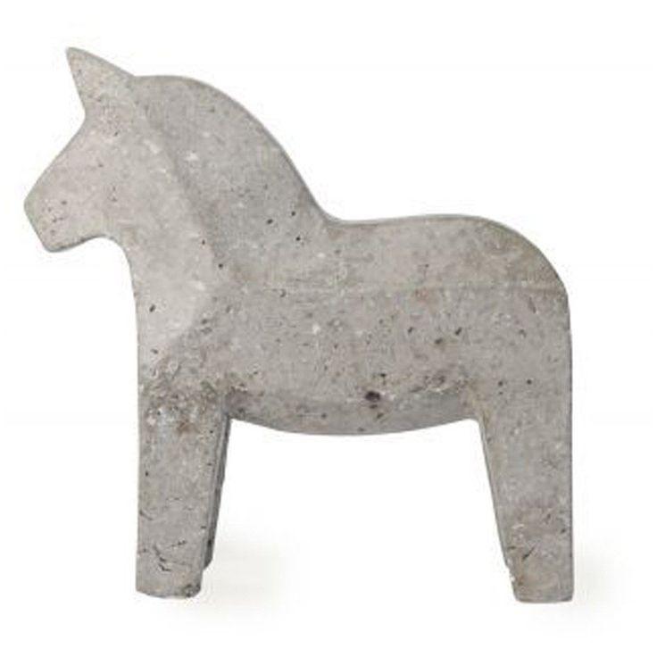 concrete dala horse flux boutique