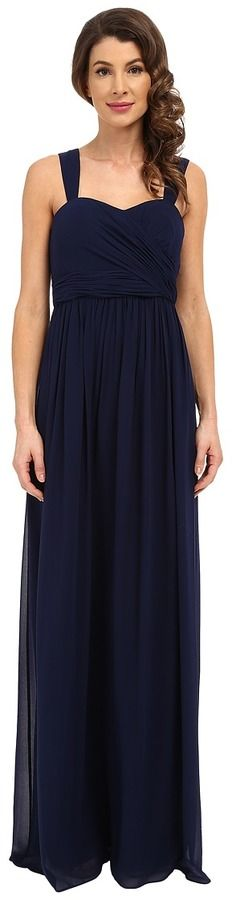 Donna Morgan Bailey Draped Side Strapped Gown